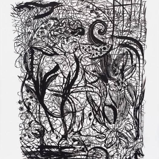 Ron, 2012, Papierschnitt schwarz, 113 x 90 cm