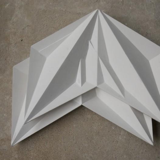 Fragment (1), 2015, 60 x 60cm, Holz, Kreidegrund