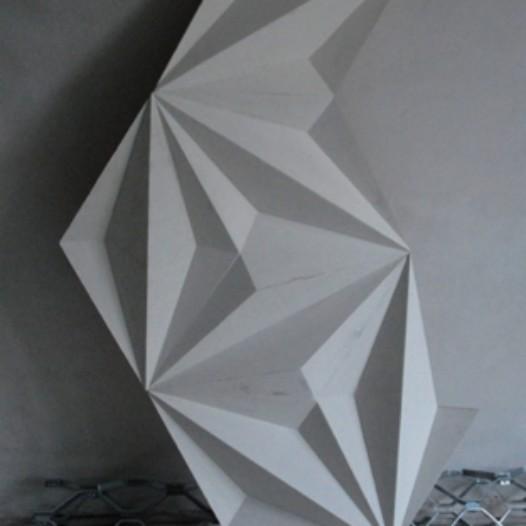 Fragment (2), 2015, 60 x 60cm, Holz, Kreidegrund