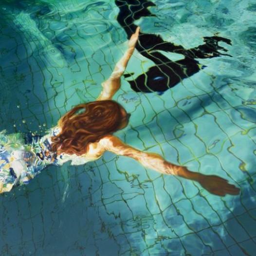 Schwimmer LVI, 2015, 120 x 180 cm, Pigment und Acryl auf Leinwand