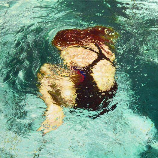 Schwimmer LXVI, 2015, 120 x 180 cm, Pigment und Acryl auf Leinwand