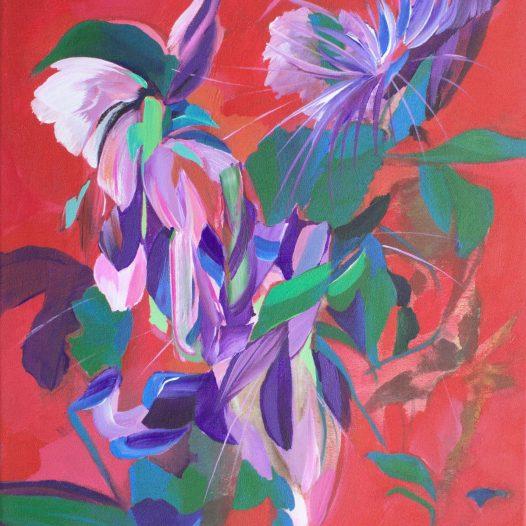 Swingeflecht, 2021, Acryl auf Leinwand, 47 x 37 cm