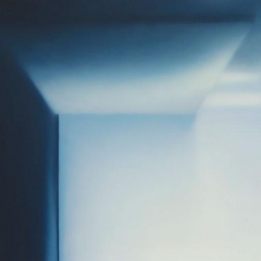 Blaues Licht, 2014, 60 x 60 cm, Öl auf Leinwand