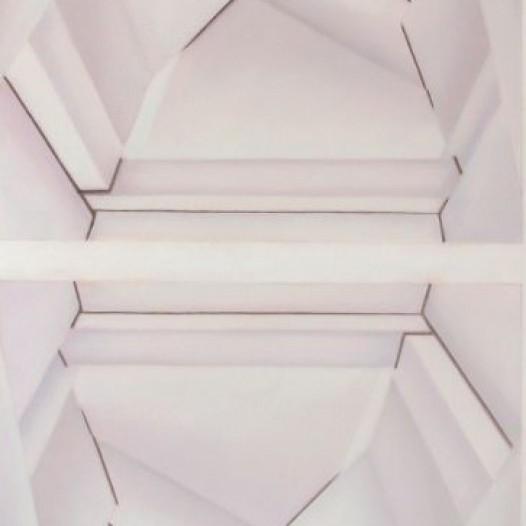 Druse, 2014, 100 x 70 cm, Öl auf Papier