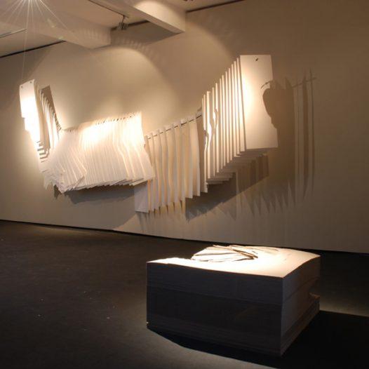 Wandrelief, Papier, 2009; Bloc, Karton, 2009