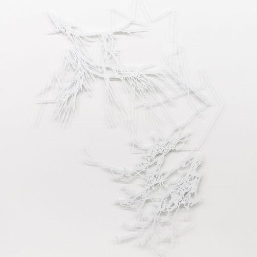 o.T., 2018, Laserschnitt Metallblech, lackiert, 160 x 120 cm, Ed. 3 + 1 a.p., Foto: Thorsten Arendt