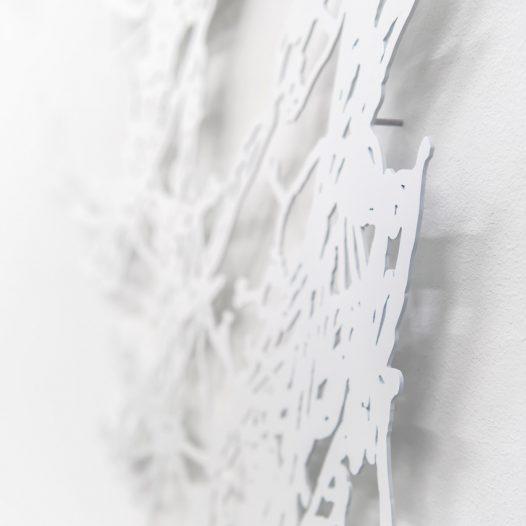 o.T. (Detail), 2018, Laserschnitt Metallblech, lackiert, 160 x 120 cm, Ed. 3 + 1 a.p., Foto: Thorsten Arendt