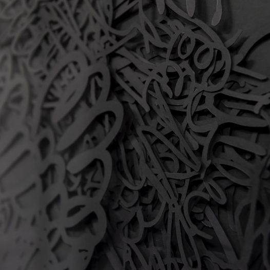 o.T. (Detail), 2018, Papierschnitt Collage, 124 x 104 cm, Foto: Thorsten Arendt