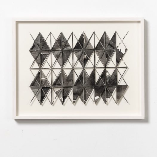 o.T., 2014, Papierschnitt, Tusche, 28 x 36 cm, Foto: Thorsten Arendt