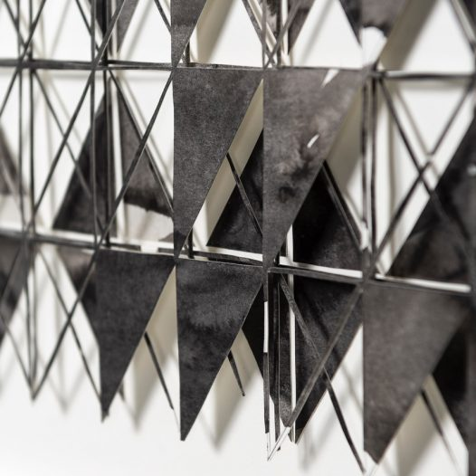 o.T. (Detail), 2014, Papierschnitt, Tusche, 28 x 36 cm, Foto: Thorsten Arendt