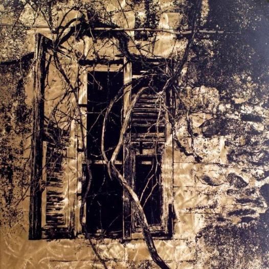 Einwuchs, 2017, 100 x 70 cm, Reliefdruck auf Messing