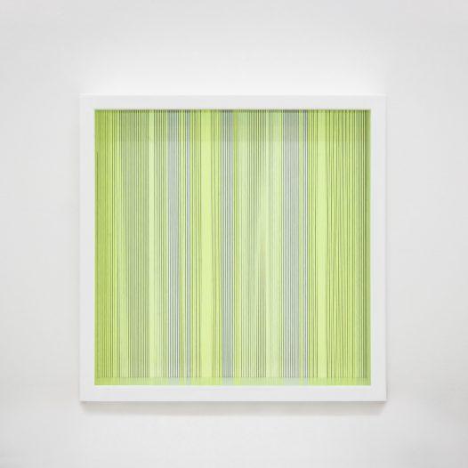 Illusion_y1, 2018, Fäden, Holzrahmen, 100 x 100 cm