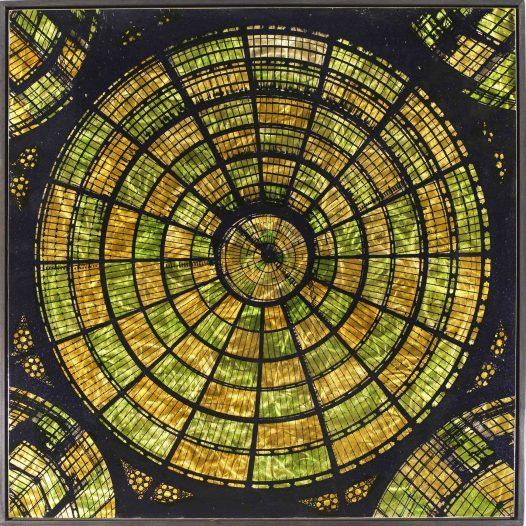 Netz, 2019, 100 x 100 cm, Malerei/Reliefdruck auf Messing