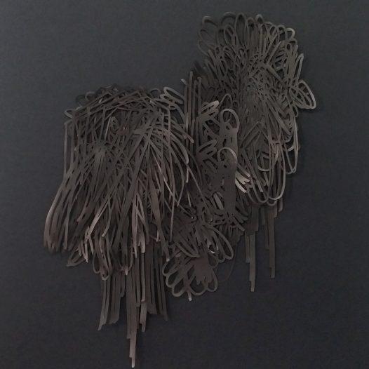 Ohne Titel, 2019, Papierschnitt, 42 x 32 cm