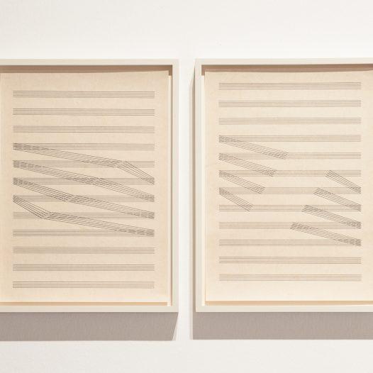 Tectonic_Score 1, 2015, Bleistift auf Papier, 21 x 29,7 cm