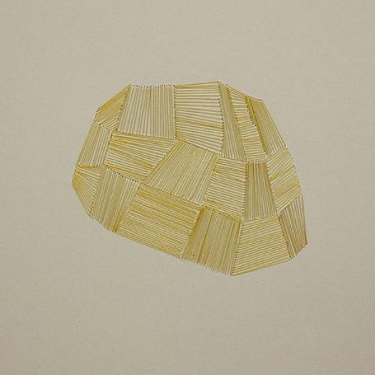 Bottari II, 2012, 24 x 34 cm, Metallfäden auf Papier