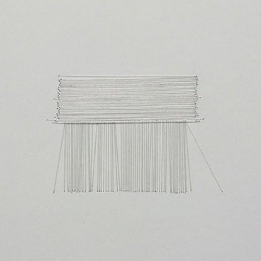 Landscpae, 2012, Metallfäden auf Papier, 24 x 34 cm