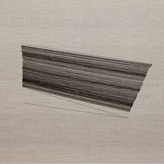 Rendez-Vous I, 2011, Schwarze Fäden auf Leinwand, 70 x 110 cm