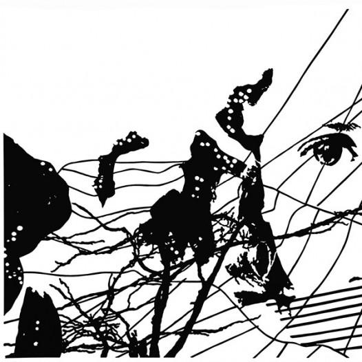 Ohne Titel, 2010, 70 x 100 cm, Papierschnitt, lackiert