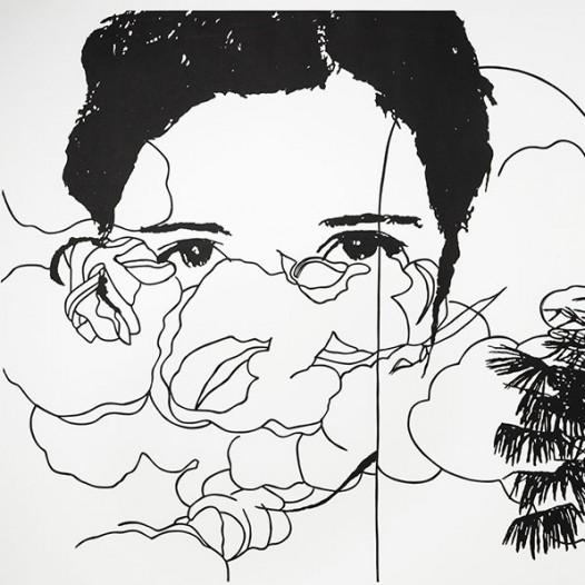 Ohne Titel, 2011, 103 x 143 cm, Papierschnitt