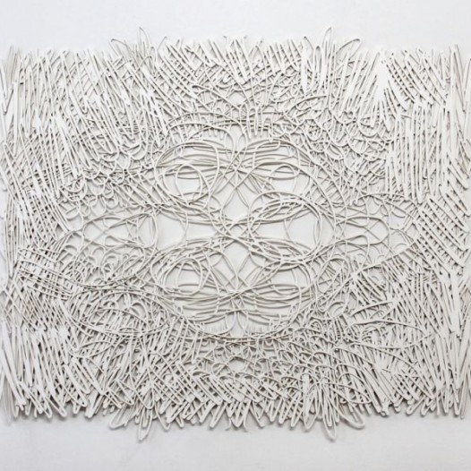 Ohne Titel, 2014, 102 x 122 cm, Laserschnitt, weißer Karton, 4-lagig, Edition 1/3