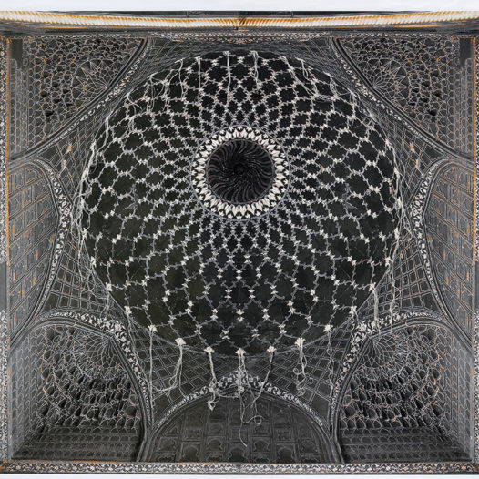 o. T., 2012, ca. 135 x 145 cm Fotografie bestickt, Pigmentdruck