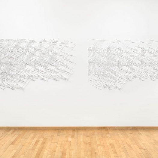 o.T., 2017, Papierschnitt zweilagig, lackiert, 110 x 182 cm