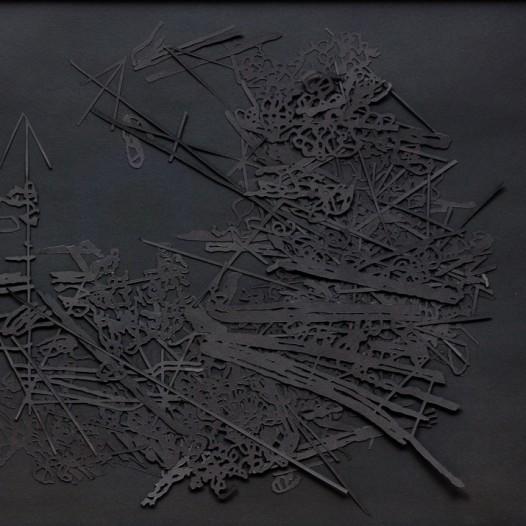 o.T., 2016, schwarzer Karton, 52 x 64,5 cm