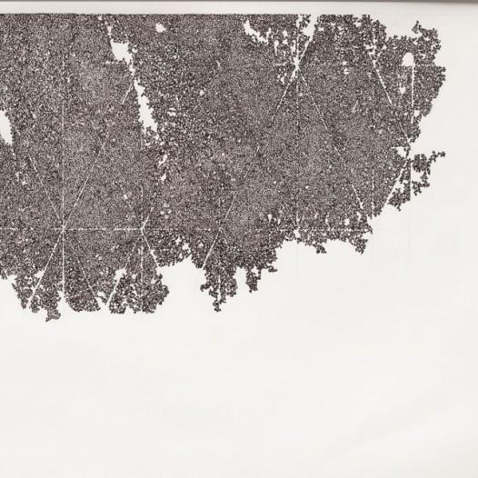 o.T., 2014, Tuschezeichnung, 69 x 99 cm