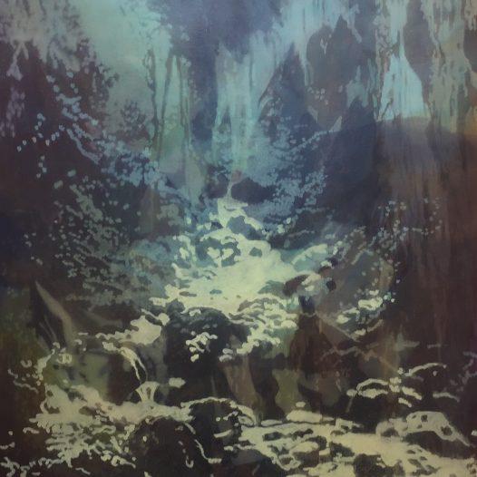 Landschaft, 2018, Öl auf Baumwolle, 100 x 80 cm