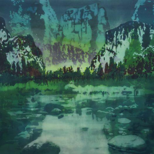 Spiegelung I, 2018, Öl auf Baumwolle, 80 x 120 cm