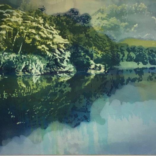 Spiegelung II, 2018, Öl auf Baumwolle, 80 x 120 cm