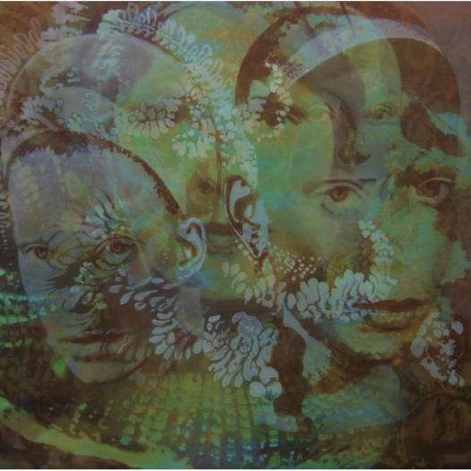 Vogelfrauen, 2017, Öl auf Baumwolle, 120 x 140 cm