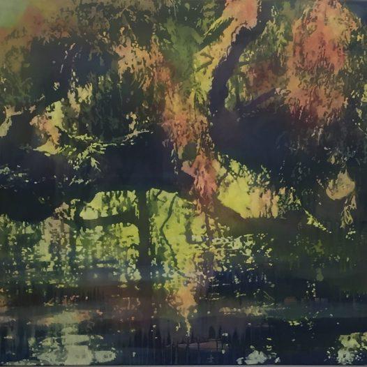 Zwischenwelten II, 2015, Öl auf Baumwolle, 120 x 150 cm