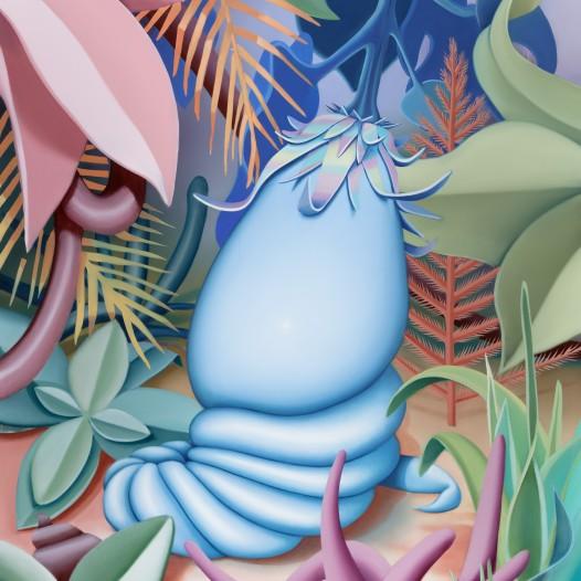 Früchtchen, 2020, 180 x 140 cm, Acryl und Öl auf Leinwand