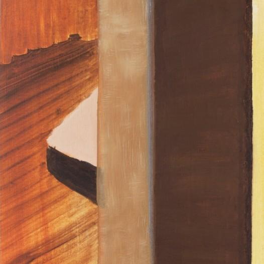 Franca Franz, Selvie Beach, 2019, 32 x 24 cm, Ölkreide auf Papier auf Holz