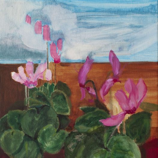 Franca Franz, Up, 2019, 25 x 25 cm, Öl auf Leinwand