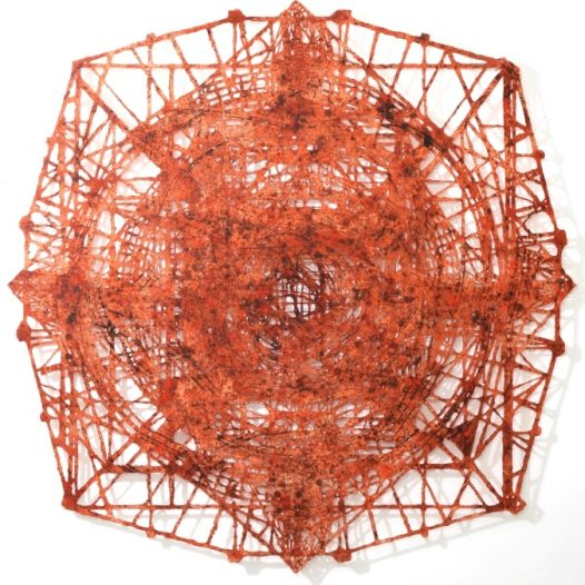 Kali, 2015, 200 × 200 cm, Bleistift, Graphit, Öl, gerissenes Papier