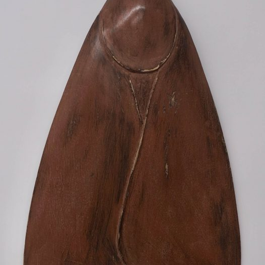 Paul Diestel: Falter II, 2020, Lindenholz, Erdpigment, Kalk, Hasenleim, 40,0 x 24,0 x 6,0 cm