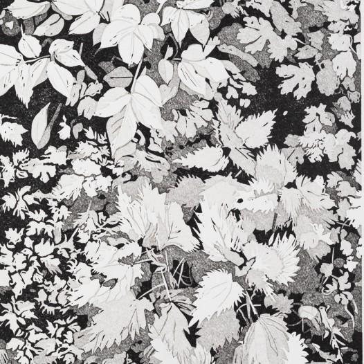 Randstück, 2019, Linolschnitt Reduktion 5 Farben, Auflage: 25, Druck: 23 x 16,4 cm, Papier: 29,4 x 23 cm