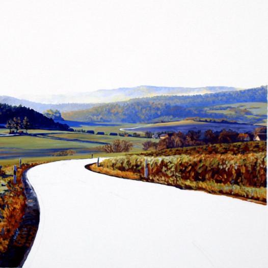 Land V, Öl auf Leinwand, 100 x 110 cm