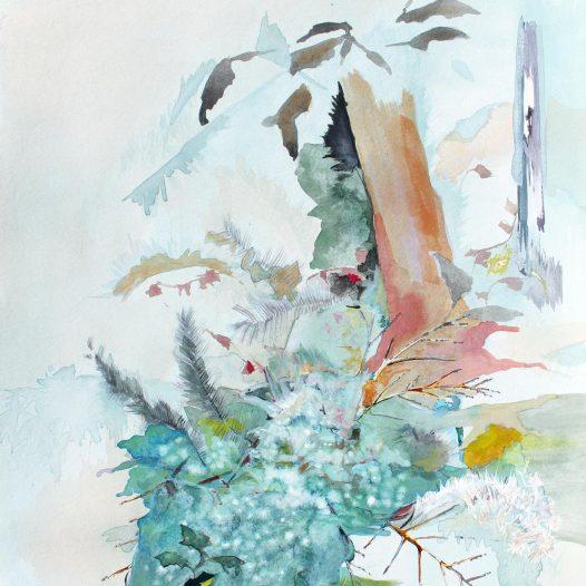 In sanftes Nebellaub gebettet, 2019, Tusche auf Papier, 40 x 30 cm