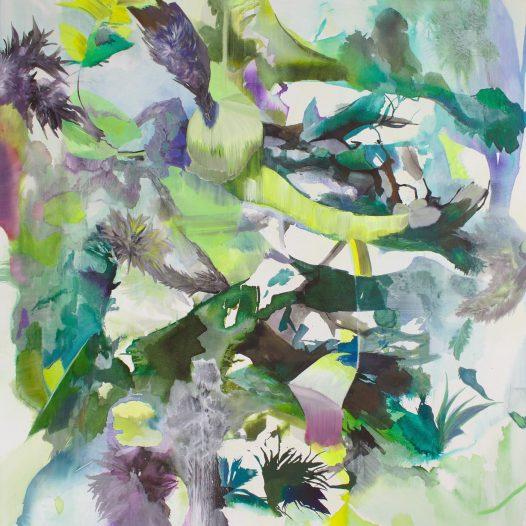 Konvergenz, 2020, Tusche auf Leinwand, 160 x 140 cm