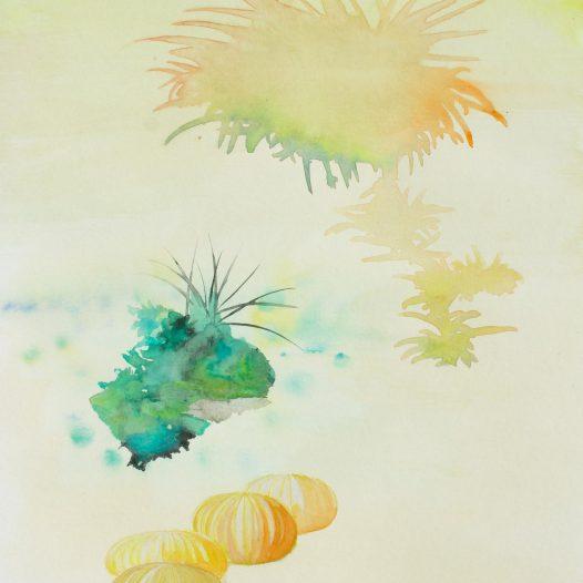 Moxos, 2020, Aquarell auf Papier, 40 x 30 cm