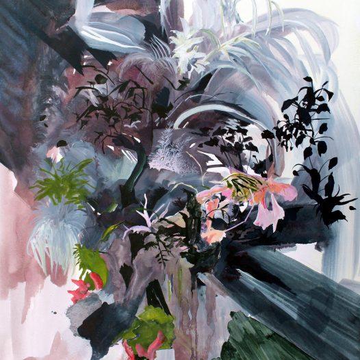 Verwandeln Verwildern, 2018, Tusche auf Papier, 40 x 30 cm