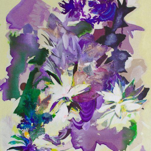 Viola, 2021, Tusche auf Leinwand, 47 x 37 cm