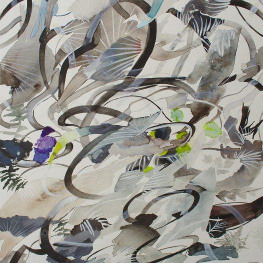 Ybsillen, 2020, Tusche auf Papier, 40 x 30 cm